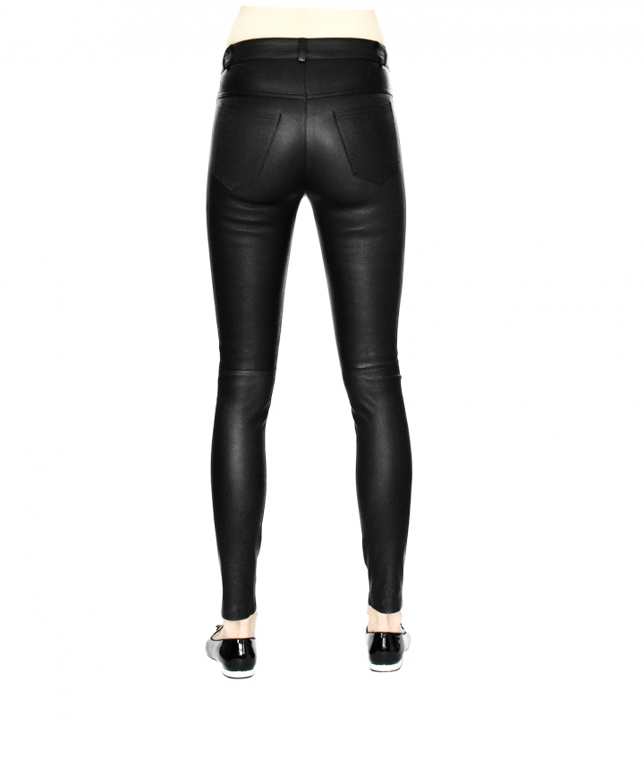 PARIS ENGINEER LEATHER PANT four view