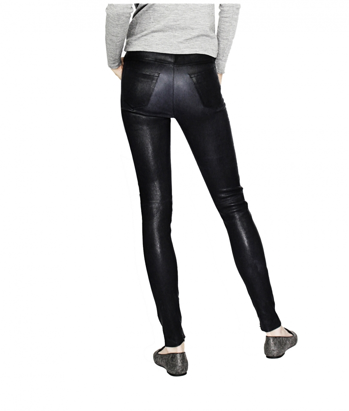 MIA HIGH WAIST LEATHER PANTS seven view