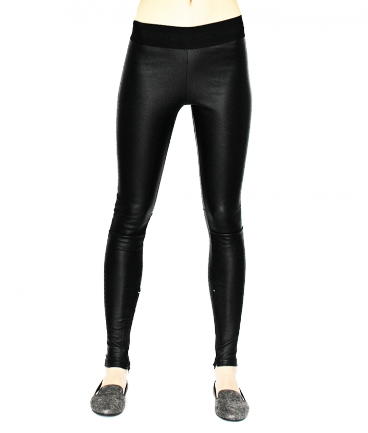 LUNA LEATHER LEGGING - BLACK six view