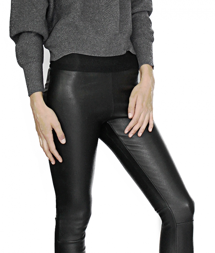 LUNA LEATHER LEGGING ELASTIC WAIST five view