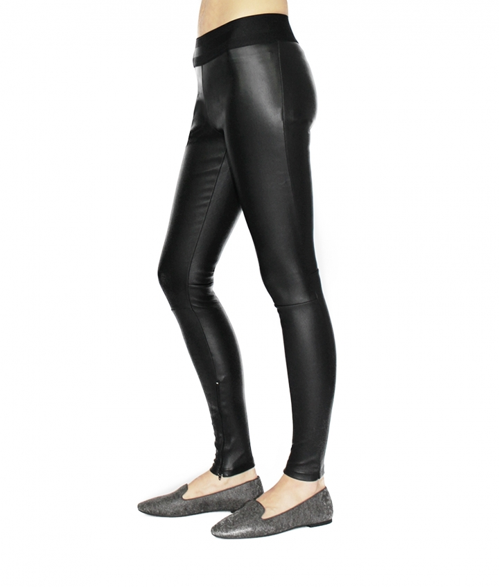 LUNA LEATHER LEGGING - BLACK seven view