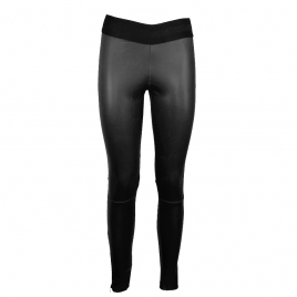LUNA LEATHER LEGGING - BLACK