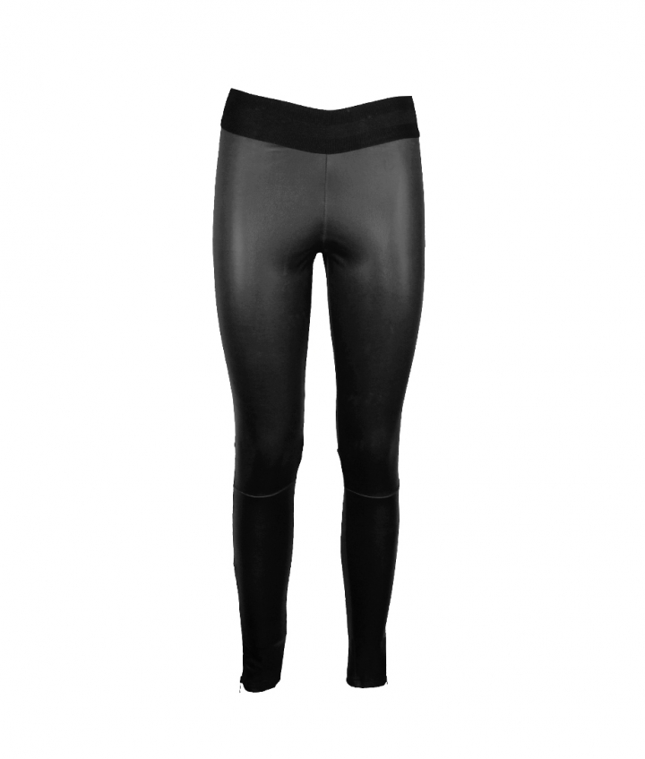 LUNA LEATHER LEGGING - BLACK one view