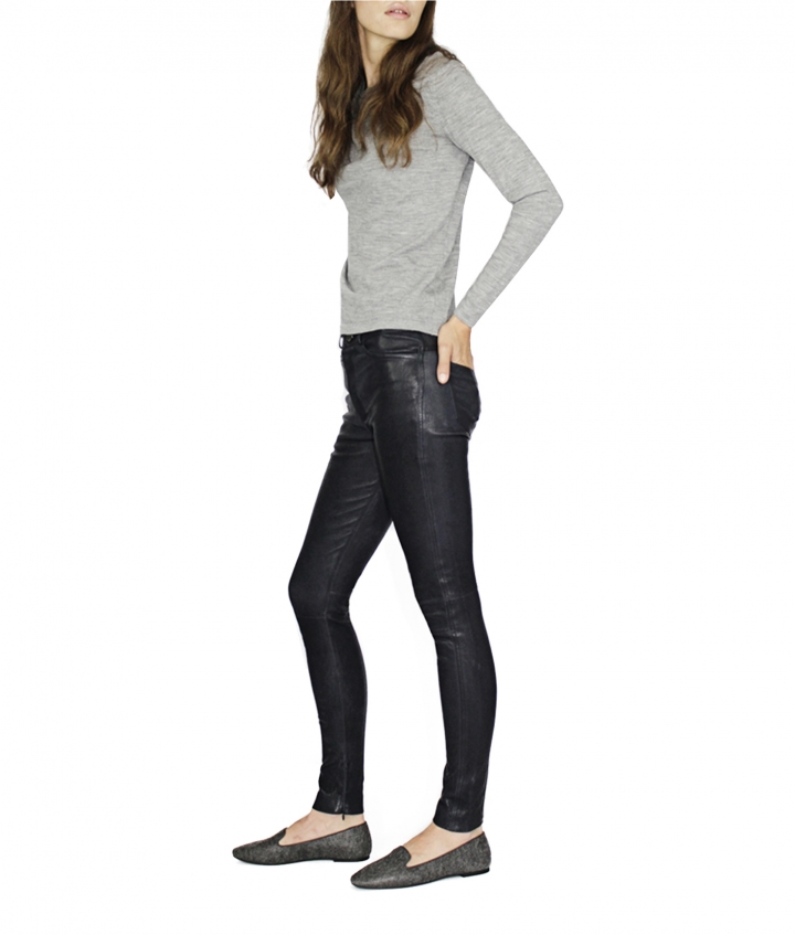 MIA HIGH WAIST LEATHER PANTS five view